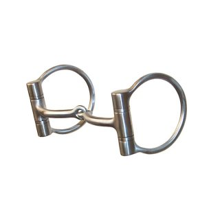 Brushed D Ring Snaffle