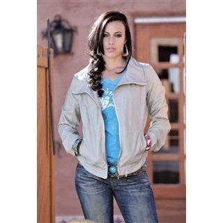 Faux Leather Jacket Gray